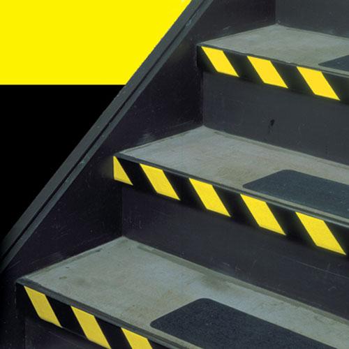 Черно-желтая клейкая лента для разметки