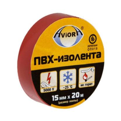 "Изолента ПВХ 15мм * 20м ""AVIORA"" (красная)"